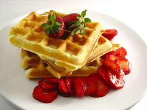 waffle and strawberries foods of the world china culture culturalbility